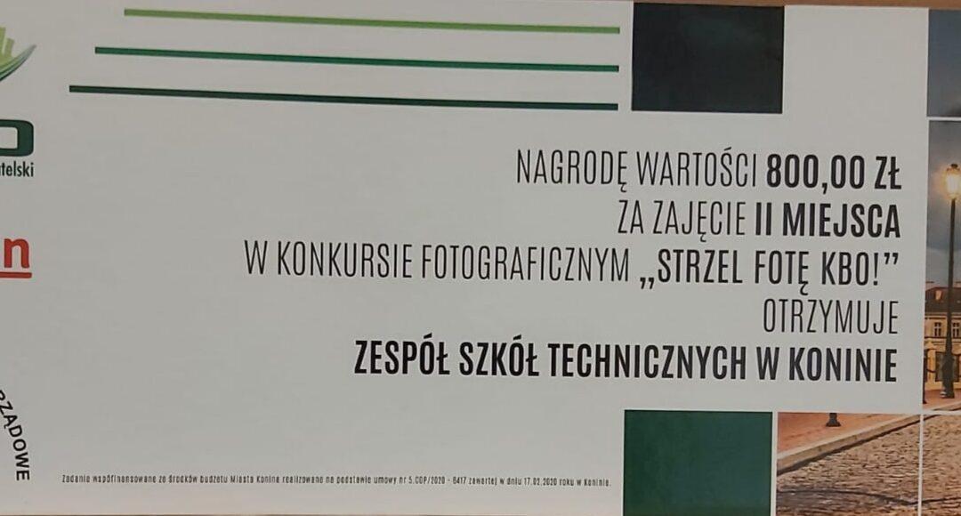 """II miejsce w miejskim konkursie fotograficznym """"Strzel fotę KBO!"""""""
