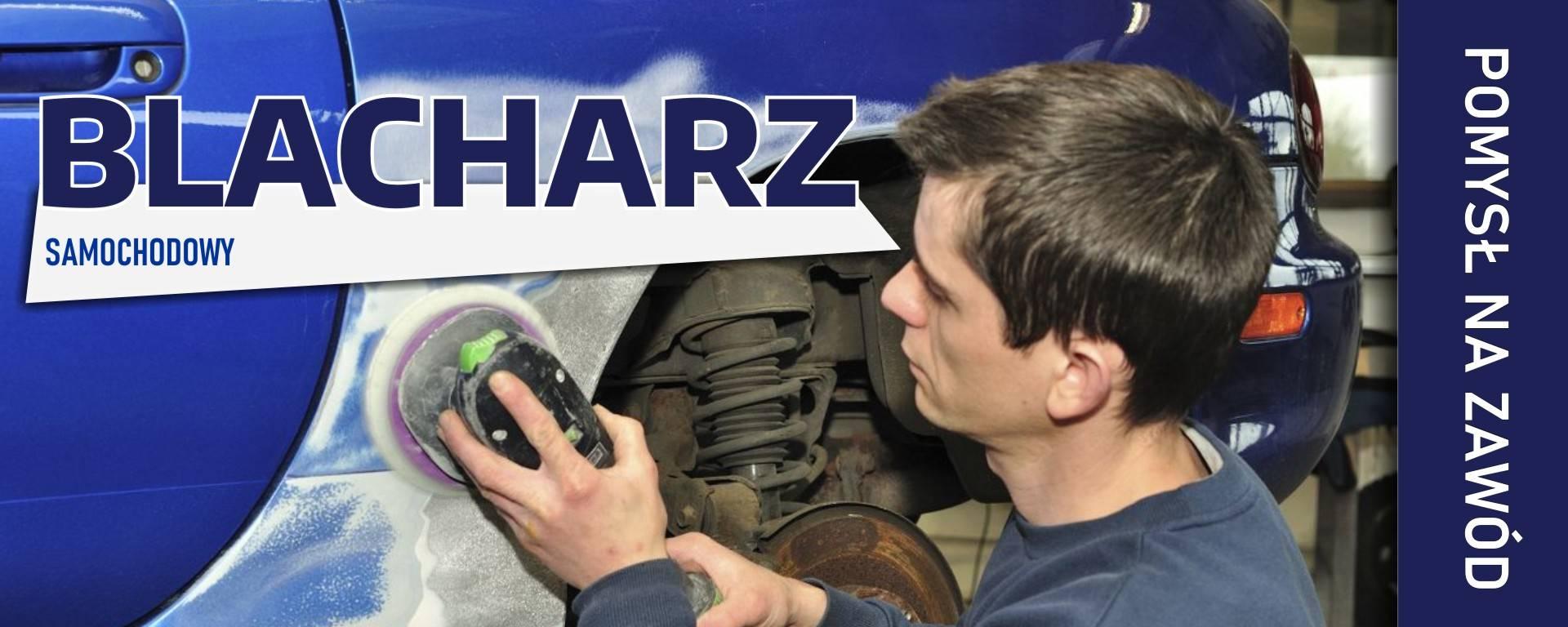 Zdjęcie przedstawiające blacharza samochodowego
