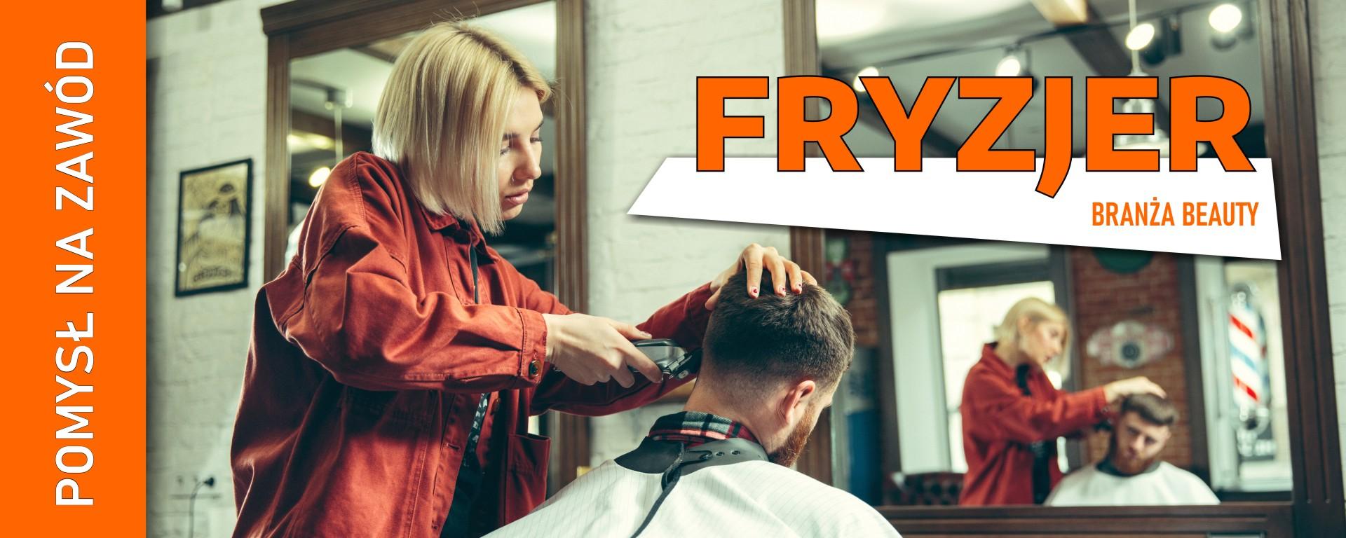 Baner - zawód fryzjer