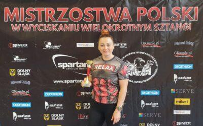 Pani Daria Walczykiewicz Wicemistrzynią Polski Nauczycieli w Wyciskaniu Sztangi